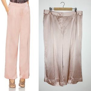 VINCE CAMUTO wide leg silk trouser pants